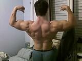 huge muscles aesthetic show webcam